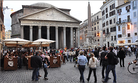 Book mark: The ancient Pantheon was a pagan temple before it was co-opted by Christians as a church.