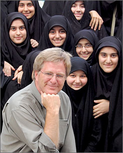 """I didn't know what to expect"": But Rick Steves, who met with schoolgirls on his trip to Iran last spring, says it was ""a plus"" to be American there."
