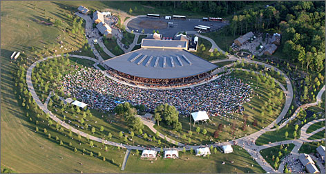 Musical landmark: The Bethel Woods Performing Arts Center was built at the site of the 1969 Woodstock festival, which was held 40 miles from Woodstock.