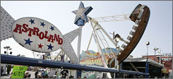 The star from Coney Island's now-closed Astroland amusement park is now part of the National Air & Space Museum's permanent collection.