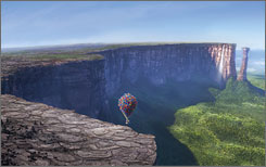 Some of the spectacular scenery in Pixar's animated hit &quot;Up&quot; was inspired by real-life locations in Venezuela, such as Angel Falls (pictured below).