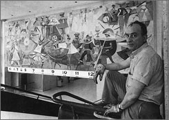 Brazilian artist Carybe won both first and second prize in a 1959 contest to create art for the old American Airlines terminal at JFK airport in New York.