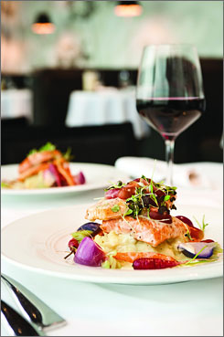 The Traverse City, Mich., area is home to an increasingly varied and sophisticated culinary culture. Aerie Restaurant & Lounge changes menus seasonally as different local produce becomes available.