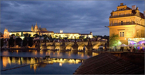 Actor Bryan Cranston is a big fan of Prague's Old World architecture.