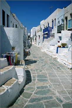 The community of Chora is home to the most restaurants and lodging establishments on the island.