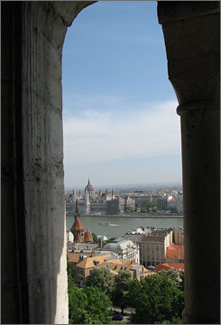 In Budapest: The Danube River slices through the city, and from the Fishermen's Bastion of St. Matthias Church, visitors are treated to a panoramic view.