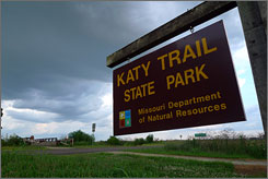 Much of the Katy Trail covers ground first explored more than 200 years ago by frontier pioneers Lewis and Clark.