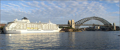 The World is your second oyster: The condo cruise ship typically spends two to three days in ports such as Sydney before moving on to other ports.