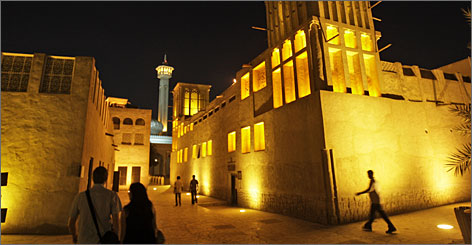 Stroll through Dubai's Bastakiya historical district to see refurbished wind towers and minarets.