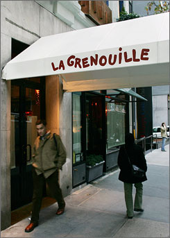 "La Grenouille: Classic, ""sumptuous"" French fare in a townhouse on East 52nd Street in New York."