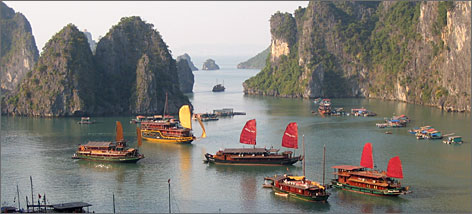 "Actress Jordana Spiro says Vietnam's Ha Long Bay is ""one of the most visually stunning places"" she's been."