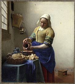 Vermeer's The Milkmaid will be shown  during a special exhibition at New York's Metropolitan Museum of Art.