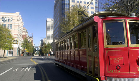 Memphis' vintage trolley system is a fun and cheap way to see the city and visit the sights.