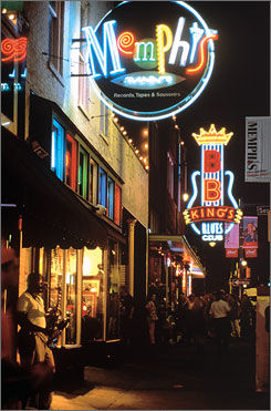 Beale Street's array of bars, restaurants and shops makes it one of Memphis' major tourist attractions.
