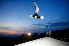 Snowflex: Synthetic ski hill, softer landings.