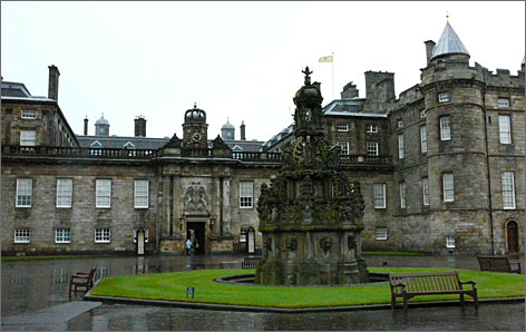 The Palace of Holyroodhouse in Edinburgh, Scotland, is open to the public as long as Queen Elizabeth is not visiting.