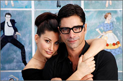 Gina Gershon and John Stamos will star in Bye Bye Birdie, opening Oct. 15 at Henry Miller's Theatre in New York.