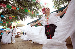 In San Antonio: Market Square, where Mi Tierra Cafe & Bakery is located, hosts a variety of outdoor events year-round.