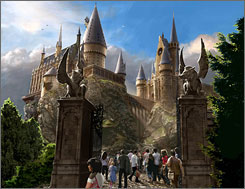 "An artist's rendering of the Hogwarts Castle at Universal Orlando's ""Wizarding World of Harry Potter,"" expected to open in spring 2010."