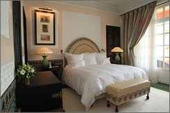 The Mamounia's luxury comes at a price: $776 to $10,350, depending on the size of the suite and the season.