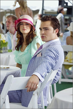 Girl and guy: Leighton Meester stars as queen bee Blair; Ed Westwick plays party lover Chuck.