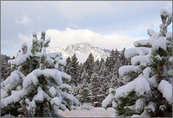 Atop Mount Tallac: Signs of El Nino? Up to 8 inches of snow fell in the Lake Tahoe area last weekend.