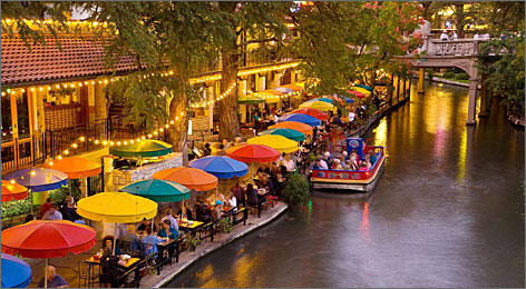 "Mario Lopez says the River Walk makes San Antonio ""very romantic."""