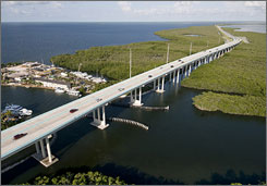 The Overseas Highway,  which stretches over 127 miles in the Florida Keys, was one of five highways to receive an All-American Road designation this year. 