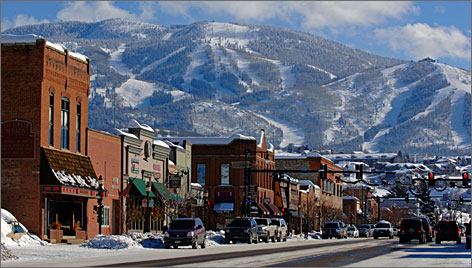 Visions of Old West: Steamboat Springs' main drag is a draw, too.