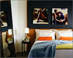 Most of the hotel's artwork comes from the private collection of the hotel's husband-and-wife owners.