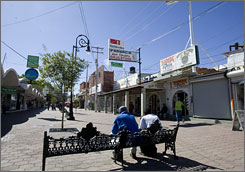 As part of Nogales's $15.4 million makeover, two downtown streets were turned into pedestrian areas.