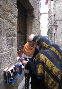 Universal draw: New Moon fans come from around the world to Volterra.