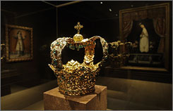 The Crown of the Andes, originally cast to adorn a statue of the Virgin Mary, is reputed to be the oldest and largest collection of emeralds in the world.