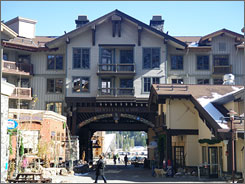 The Village at Squaw has lodging, restaurants, bars and shops and is considered a focal point of Squaw Valley USA's apres ski life.