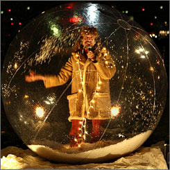 JJ Jones, the Human Snow Globe, will perform at Nashville International Airport.