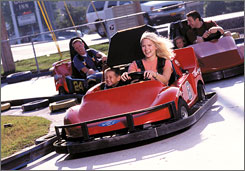 Driving tourism: The Track Family Fun Parks in Branson, Mo., are among attractions for young tourists.