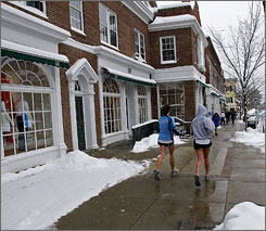 Quintessential college town: Getting out and enjoying the outdoors, no matter the weather, is a high priority in Hanover, N.H., home of Dartmouth College.