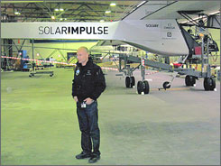 """If we manage to fly around the world with an airplane that takes no fuel at all,"" says Solar Impulse president Dr. Bertrand Piccard, ""nobody will be able to say afterwards that it is impossible for cars."""