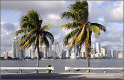 Downtown Miami: Get to a beach on the cheap.
