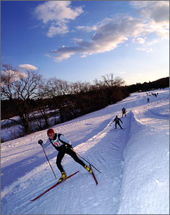 Near Boston: Weston Ski Track is one of the many places across the USA offering free cross-country skiing and snowshoe lessons Saturday. Cross-country skiing lessons require pre-registration and a trail pass.
