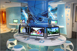 Fun and games: Atlantis' high-tech play club features lots of interaction and fills 8,000 square feet.