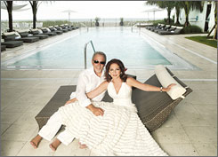 Sound idea: Emilio and Gloria Estefan's Costa d'Este Beach Resort in Florida offers mojito receptions for guests.