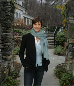 """Our neighborhood"": Actress Carey Lowell helped design rooms at the Bedford Post, which opened in August. Lowell and her husband, actor Richard Gere, co-own the Westchester County inn. The couple married in 2002 and have a son."