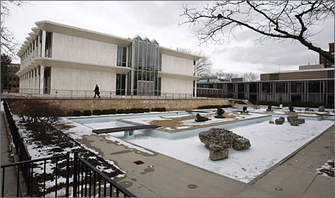 The McGregor Memorial Conference Center at Wayne State University in Detroit was designed by Minoru Yamasaki, architect of the World Trade Center.