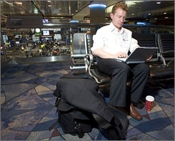 Las Vegas McCarran Airport offers free Wi-Fi throughout the terminals. An increasing number of other large airports are following suit.
