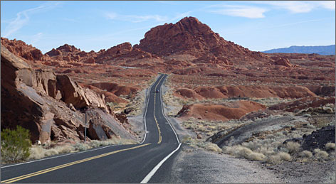 Nevada's Valley of Fire State Park is a spectacular landscape of rugged rocks and ancient dunes.
