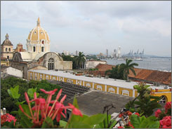 Cartagena: A rooftop view of the Old City reveals Spanish Colonial architecture in a lovely seaside destination.