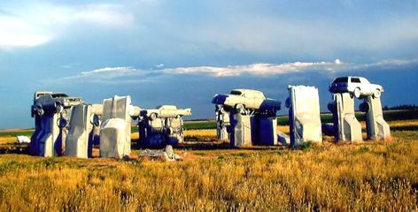 Alliance, Neb.: At Carhenge, Britain's Stonehenge inspires a bit of automotive Americana. Tens of thousands of tourists visit the monument every year.