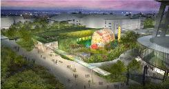 An exhibition hall, art park and large glass house will showcase the work of Dale Chihuly next to the Space Needle in Seattle.
