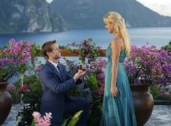 Amatchmade in paradise: The Bachelor Jake Pavelka with winner Vienna Giraldi in St. Lucia.